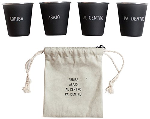 Izola Stainless Steel Cool Shot Glass Set with Canvas Travel Pouch (Party City Baltimore)