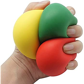 Reliever Toy, Hatop Low Resistance Squishy Stress Reliever Ball Autism Finger Fidget Exercise Toys, Random Color