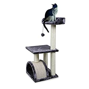 "Roypet 32"" Cat Tree with Scratching Pad and Perch, Grey 38"