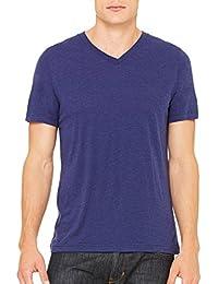 Men's Unisex Short Sleeve Tri Blend V-Neck Tee T-Shirt