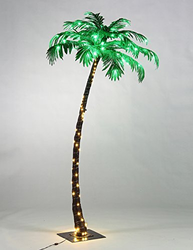Outdoor Stand Fan Palm : Lightshare lighted palm tree small import it all