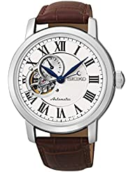 Seiko Silver Dial Brown Leather Automatic Mens Watch SSA231