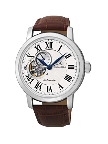 Seiko-Silver-Dial-Brown-Leather-Automatic-Mens-Watch-SSA231