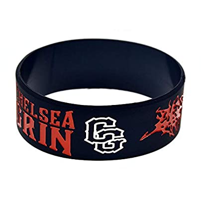 Relddd Silicone Wristbands With Sayings rsquo Chelsea Grin Deathcore rsquo Band Silicone Bracelets For Men Encouragement Set Pieces Estimated Price £25.99 -
