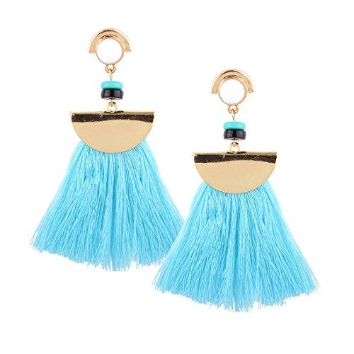 Homemade Baby Prince Costumes (Women's Earrings,LIKEOY 1 Pair Charms Jewellery Bohemian Style Tassels Dangle Earrings Eardrop Blue)