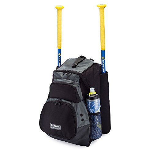 Mens Baseball Bat (COOLcessories Bat Bag Backpack - Extra Durable Baseball Bag & Softball Bag for Men, Women, Boys and Girls, with Fence Hook, Water Bottle Pocket, and Vented Shoe Compartment)