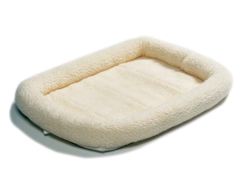 Midwest 40236 36-By-23-Inch Quiet Time Bolster Pet Bed, Fleece, My Pet Supplies