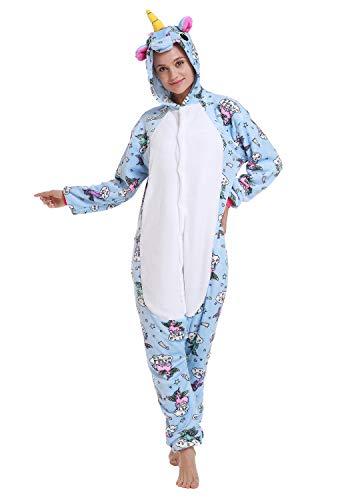 Comfy New Animal Oneise Unicorn Costume Flying Horse Halloween Cosplay Medium Blue White