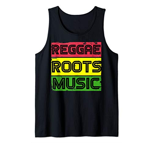 Reggae Rasta Boombox Red Gold and Green Jamaica T-shirt Tank Top