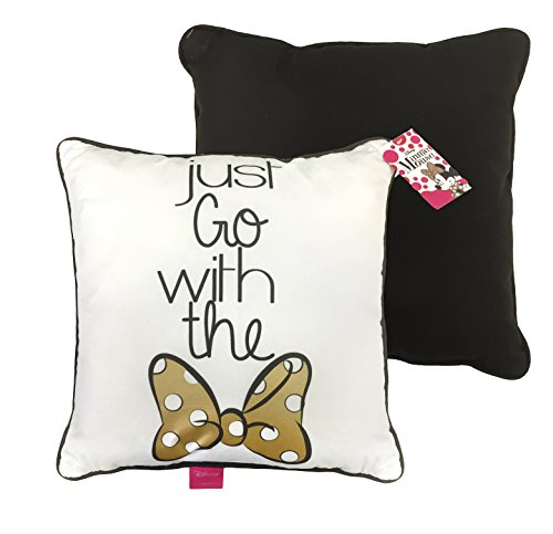 Disney Minnie Mouse Just Go with The Bow Plush Decorative Throw Pillow by Disney (Image #2)
