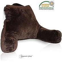 Reading PillowBest RestCertified Foam 3YearWarranty-Brown Super Soft Fabric