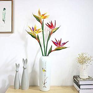 Potelin Premium Quality Artificial Flower Bird Of Paradise Fake Plant Silk Strelitzia Reginae Home Decor - Orange 2