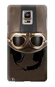 E2645 Vintage Brown Goggles Motorcycle Helmet Funda Carcasa Case para Samsung Galaxy Note 4