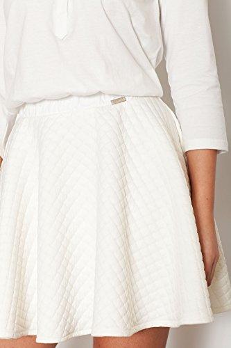 Damenkleid Größe Steppmuster Oberteil 38 mit Weibliches Ecru Katrus mit Unterteil FqT5np0x