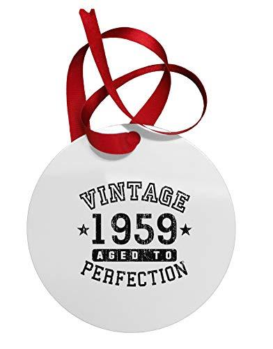 TooLoud 60th Birthday Vintage Birth Year 1959 Circular Metal Ornament (For Phoenix Sale Trees Az Christmas)