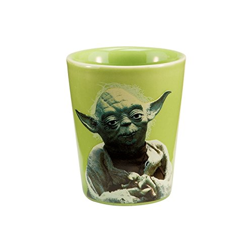 Yoda Ceramic (Vandor 99018 Star Wars Yoda Ceramic Shot Glass, Green ,)