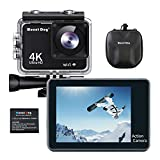MOUNTDOG Action Camera 4K 16MP Sports Action Camera Underwater Waterproof 30M Camera with 2' LCD Wide Angle View 1080P Full HD Sports Camcorder with 10M WiFi Wireless Control and Portable Camera Bag