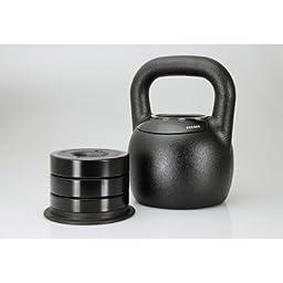 Adjustable Kettlebell Weight: 20 - 40 lbs