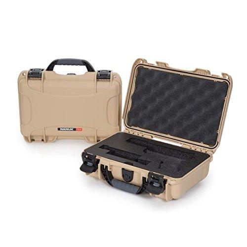 (Nanuk 909 Waterproof Professional Glock Pistol/Gun Case, Military Approved with Custom Insert - Tan)