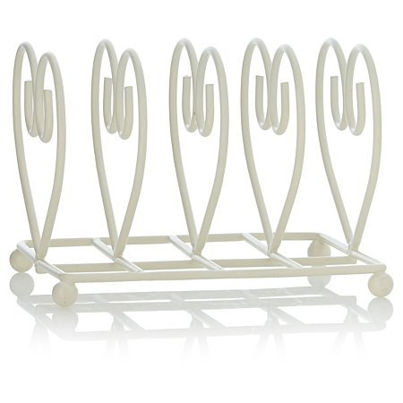 Deluxe Heart Shape Breakfast Table Toast Rack (14 x 11 x 11cm) (White) Thrifty