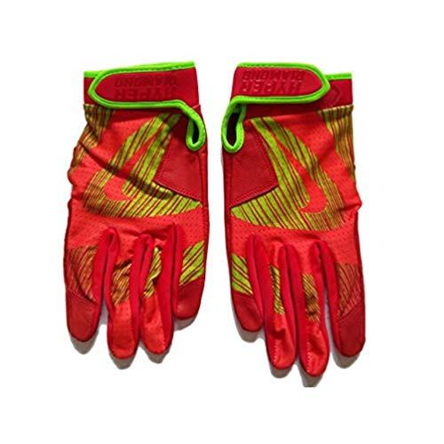 Nike Unisex GB0429 Hyperdiamond Edge Baseball Batting Gloves Size Adult Small Orange/Neon