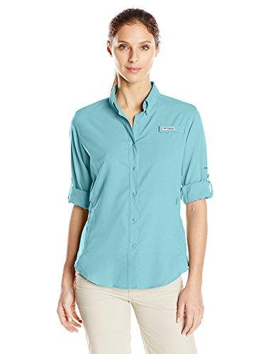(Columbia Women's Tamiami Ii Long Sleeve Shirt, Iceberg, X-Large)
