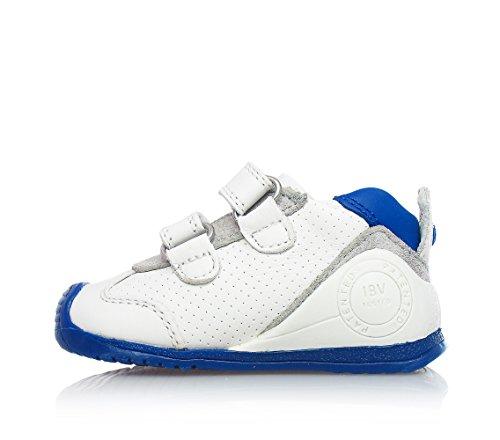 BIOMECANICS - Weiße und blaue Schuhe aus natürlichem Leder, ideal zum Krabbeln und laufen lernen, Jungen