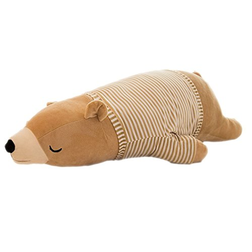 Hugging Bears - MMTTAO Polar Bear Stuffed Animal Plush Toys 20 Inch Animals Stuffed Dolls Large Brown Sleeping Bear Collection Huggable Pillow Cushion for Kids Child Boys Girls Gifts, Polar Bear, Brown, 20Inches