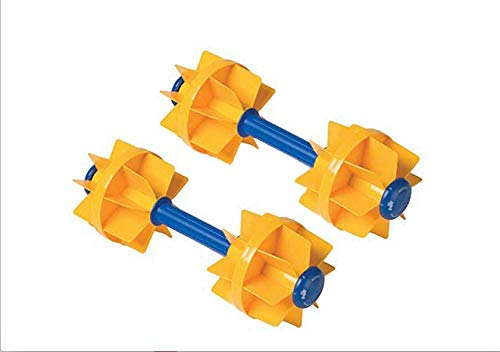 (Kiefer Water Workout Dumbbells with 6-Inch Diameter Floats, Medium Resistance (1-Pair), Yellow)