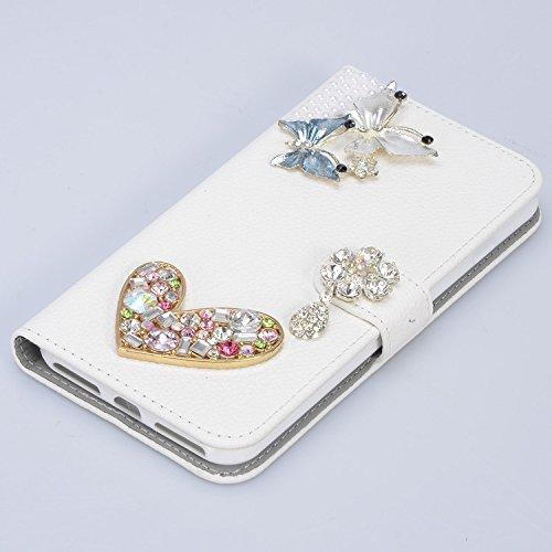 Vandot 2 en 1 Cartera Funda para Samsung Galaxy S9 5.8 Premium Carcasa de Cuero PU con Bling Diamante Crystal Caja de la Cubierta del Protector + 1x Pompón Bola de Pelo, Patrón del Pavo Real ZPT 03
