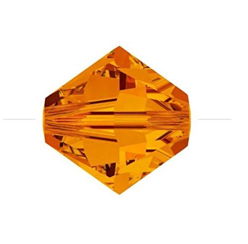 - 100pcs x Genuine Preciosa Bicone Crystal Beads 4mm Sun Alternatives For Swarovski #5301/5328 #preb412