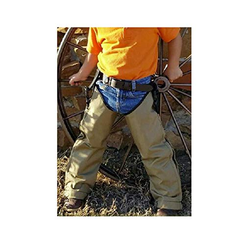 Crackshot Snake Chaps for Kids - Youth Size Snake Chaps - Khaki Tan - Snake Bite Full Protection Chaps for Children