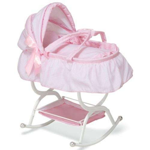 Amazon Com Toddler Girls Baby Doll Crib Cradle Bassinet Babydoll
