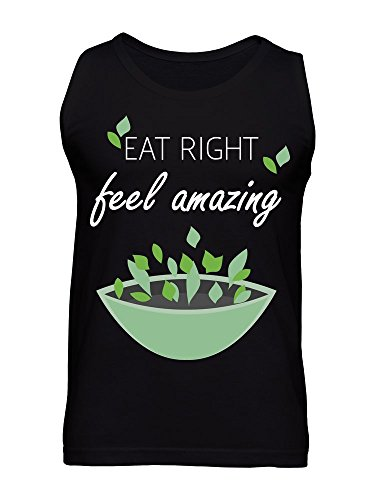 Eat Right Feel Amazing Salad Bowl Healthy Fitness Vegan Men's Tank Top