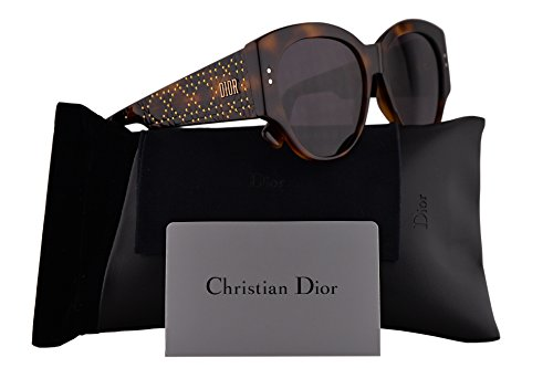 Christian Dior LadyDiorStuds2 Sunglasses Dark Havana w/Brown Gradient Lens 55mm 0860D LadyDiorStuds2/S Ladydiorstuds2 Lady Dior Studs 2 LadyDiorStuds (Dior Sunglasses Brown Lens)
