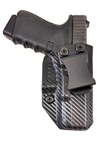 Fast Draw USA - Compatible with Glock 19/23/32 IWB Kydex Holster Inside Waistband Concealed Carry Holster Made in USA (Carbon Fiber Right Hand) ()