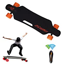 SANNYSIS Wireless Remote Control Four Wheels Electric Skateboard Longboard Skate Board Black