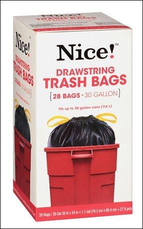 Amazon.com: Nice. Cordón bolsas de basura 30 28,0 Galón EA ...