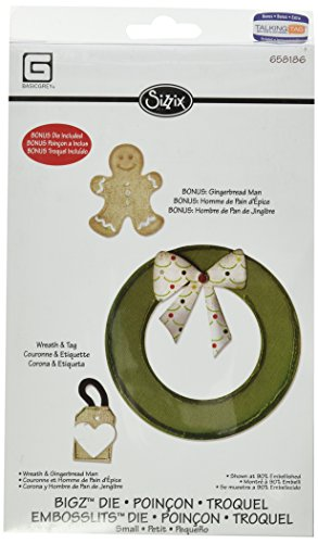 - Sizzix Bigz with Bonus Embosslits Die - Wreath & Gingerbread Man by BasicGrey