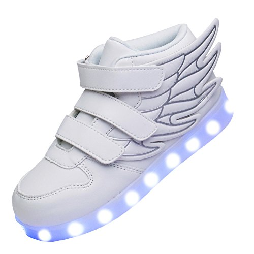 xi wei hu Boys USB Charging Led Light up Shoes With Wings