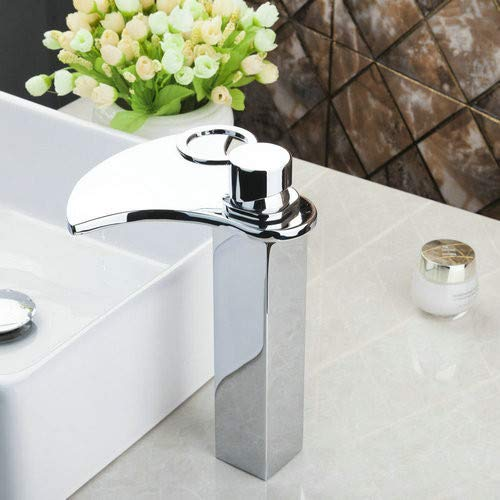 Decorry Waterfall Chrome Bathroom Brass Deck Mounted 92248 Sink Grifos Cocina Ouboni Basin Torneira Faucets,Mixers &Taps