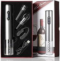 Mobofix Abrebotellas Eléctrico Recargable con Tapón de Vino al Vacío