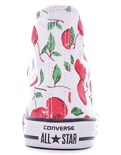 Mixte Sneaker Bianco Taylor High Blanc Graphic Converse Chuck Hi Canvas Adulte Toile FwqqAS
