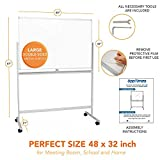 Mobile Whiteboard Large White Board - 48x32