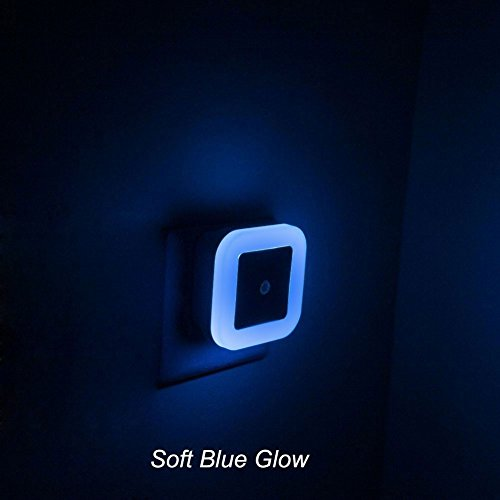- Soft Blue Glow, Plug In LED Night Light with Dusk to Dawn Sensor - Perfect for Bathroom, Hallway and Toilet [Pack of 2]
