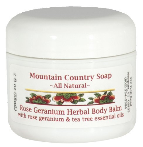 Rose Geranium Herbal Body Balm by Mountain Country Soap -