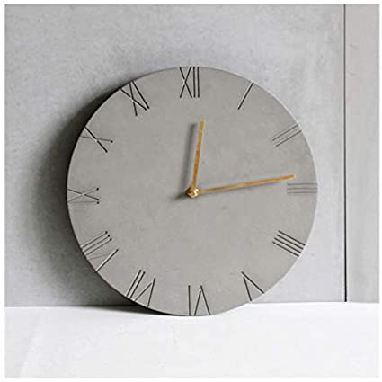Amazon.com: Concrete Molds Handmade Clock Making Mould Round ...