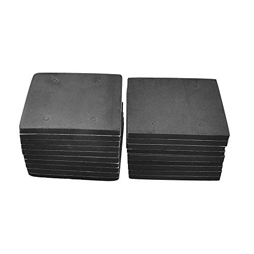 "LDEXIN 20pcs 4.5"" x 4"" Adhesive Sponge Neoprene Rubber Foam Anti-Vibration Sander Pads Sanding Machine Mat Replacement for Makita 4510"