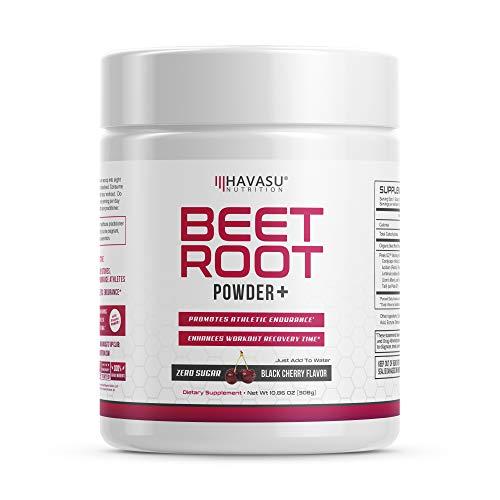 Premium Beet Root Powder with Organic Peak02 & Mushroom Blend - Supports Fast Recovery & Athletic Endurance, No Sugar