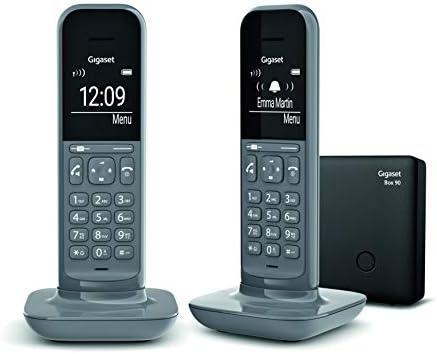 Gigaset CL390 DUO - Teléfono fijo inalámbrico para casa, pantalla iluminada, agenda 150 contactos, gris: Amazon.es: Electrónica